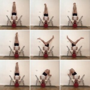 Preparation to prone backward extension.
